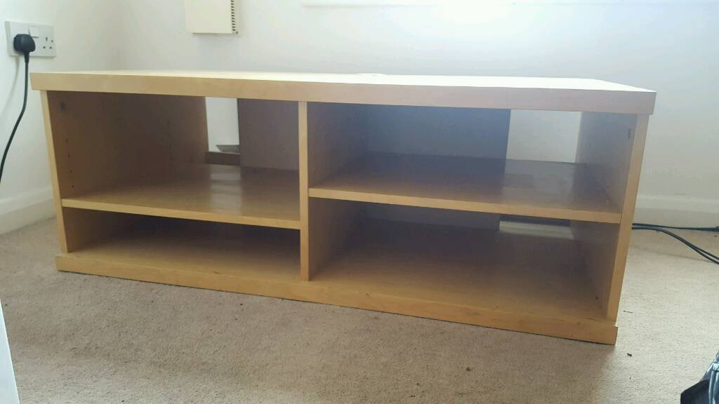 Large Wooden Tv Stand Floor Storage Unit