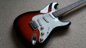Copy of a Fender Stratocaster electric guitar, good condition, plays well, collect Havant.