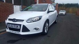 1.6 Ford Focus Titanium 2012, White, 45K Mileage, Immaculate Condition, MOT Till Dec 2018 £6,299