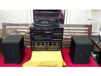 Saisho Music Centre + free CD player! 80`s Vintage Record Player !