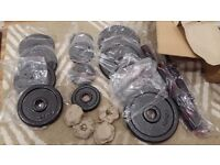 20KG BRAND NEW CAST IRON DUMBBELL WEIGHTS SET