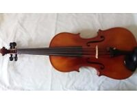 "Adult 15.5""; Viola for sale, with accessories."