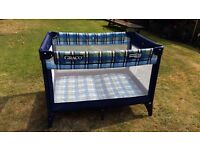 GRACIO TRAVEL COT, lovely condition, surplus to requirements.