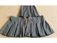 3 pairs of grey school skirts size 5-6 years