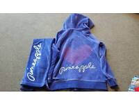 Girls Pineapple Tracksuit size 9-10,11-12