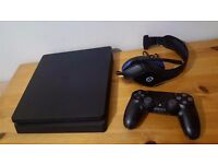Sony Playstation 4 Slim 500GB, Excellent Condition Used for 3 Weeks, Comes with Headset & Controller