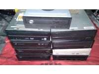 JOBLOT 9 PC COMPUTER DVD WRITER DRIVES SATA AND IDE DVD DRIVES