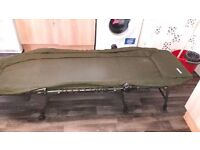 Fishing bed chair, good but used condition