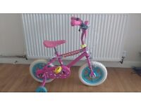 12 inch Hello Kitty girls bike with stabilizers