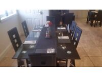 4 tables seating 6 and 10 tables seati 4 including chairs