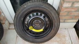 Spare wheel GM 185/65/15 tyre 4X100 astra corsa