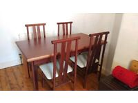 Dining Table and 4 Chairs - £30