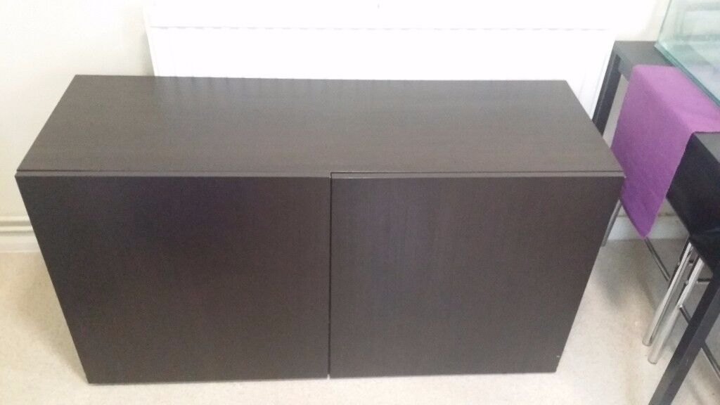 Ikea storage unit black brown