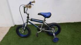 """12"""" child's bike with stabilisers"""