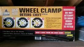 Caravan or trailer wheel vlamp