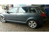 Audi A3 17 inch S Line alloy wheels good condition with tyres