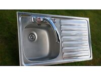 STAINLESS STEEL SINK & MIXER TAPS