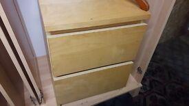 Ikea 2 Drawer Bedside Cabinets