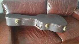 Stagg hard case for acoustic guitar with soft interior