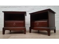 Stag Minstrel Bedside Cabinets (DELIVERY AVAILABLE)