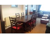 Ercol Refectory Dining Table 6 Chairs Carvers Vintage Extendable Family Wood