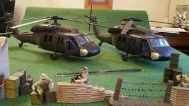 Boy's toys military/army/soldier/tank/helicopter/jeep/airplane