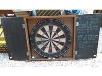 Dart Board in Cupboard