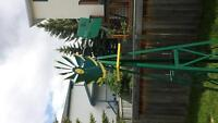 8 foot yellow and green windmill