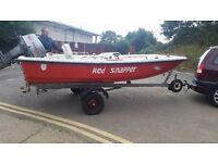 13FT DORY FISHING BOAT WITH TRAILER