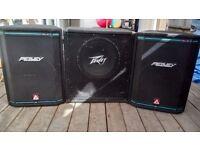 Peavey HiSYS.2XT PA speakers, Plus unknown Peavey cab