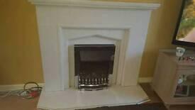 White granite fire surround
