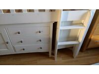 M&S cabin bed with removable desk, drawers, book case