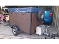 Car trailer.