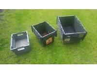 Heavy duty storage boxes