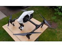 DJI Inspire 1 V2 with two controllers and accessories.
