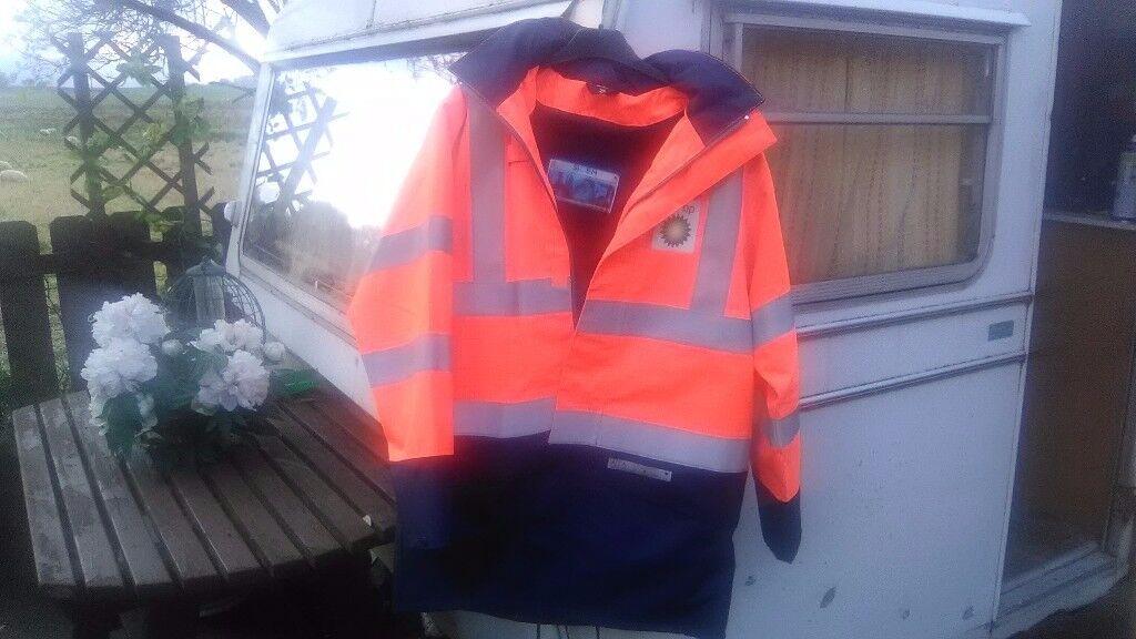 Orange/navy flame retard jacket size S new and unworn £15 collect