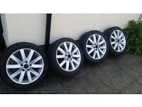 """vw 17"""" alloy wheels"""