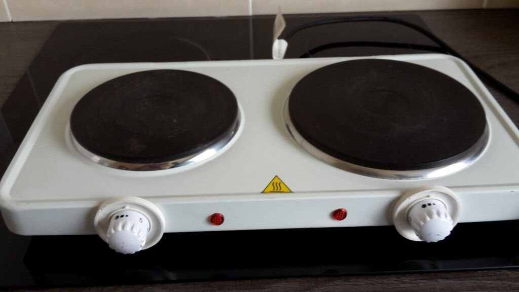 2 Ring Electric Hob Camping Or Home