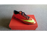 Nike Mercurial Vapor IX FG Boots Sunset/Total Crimson UK Size 11 (New)