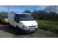 2005 Ford transit swb tidy van starts and drives but needs clutch cable £350 ono mot until August