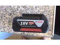 Bosch proffession 18 v cordless li ion 4ah battery hardly used take £35 ono