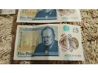 4 polymer £5 notes