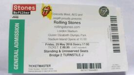 X1 standing ticket for Rolling Stones 25/5