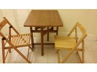Small folding kitchen table with two flaps