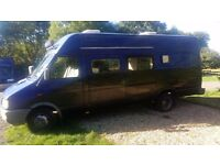 Ford IVECO DAILY 1999 converted into a motorhome with kitchen, lounge and 5 beds.