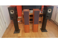 Celestion F30 Floorstanders & Mission 732s with stands