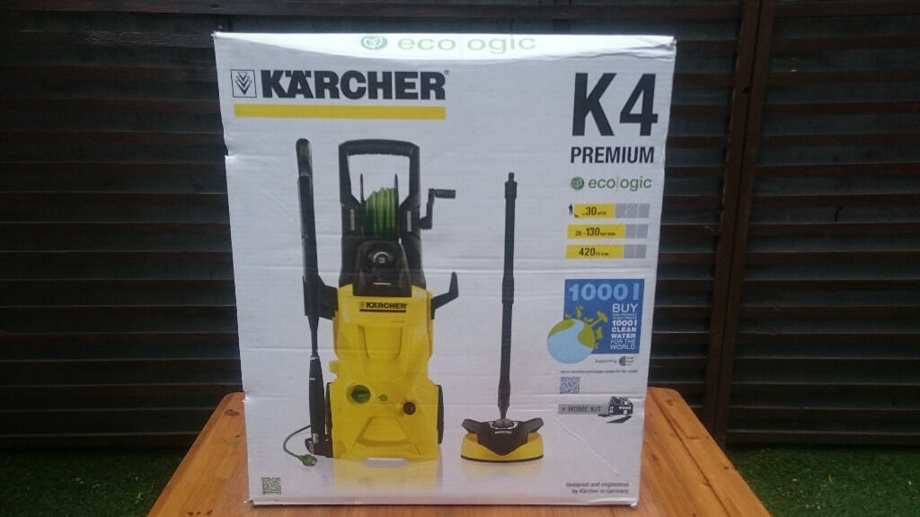 karcher k4 premium ecologic pressure washer with home kit in hackney london gumtree. Black Bedroom Furniture Sets. Home Design Ideas