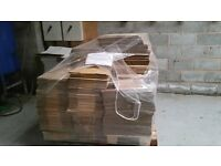 carton boxes brand new on pallet single flutte cartons