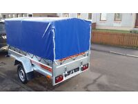 NEW Car trailers 7.7 x 4.1 and cover £750 inc vat certificate for left-hand traffic