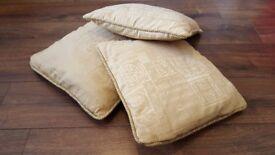 Three cushions